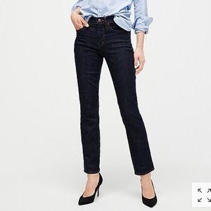 NWT J. crew vintage straight leg jeans dark wash